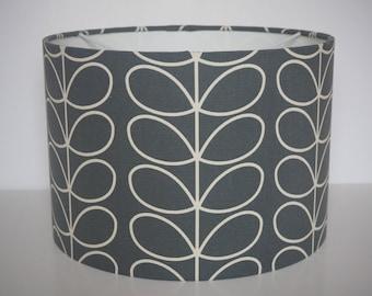 "Modern ""Orla Kiely"" stem grey charcoal lampshade - pendant - 30cm diameter"