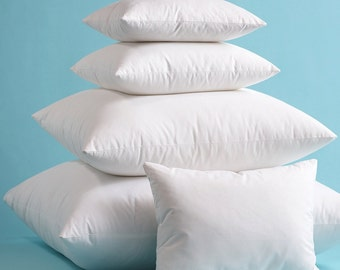 Down/Feather Pillow Inserts High Quality Hypoallergenic with Cotton Cover
