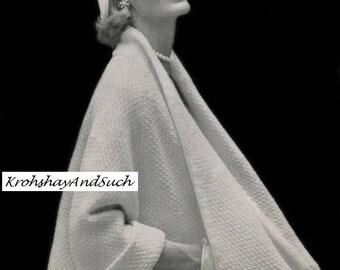 Ladies Coat Cape, Knitting Pattern. PDF Instant Download.