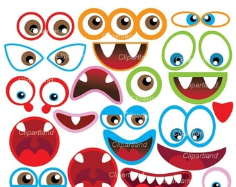 ON SALE INSTANT Download. Cm_17_monsters. Monster eyes and monster mouths. Personal and commercial use.