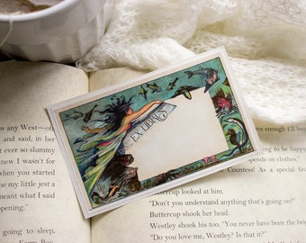 mermaid book plates - custom bookplates - Ex Libris - bookplate stickers