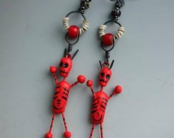 Devil Day of the Dead Earrings