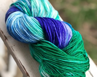Hand painted sport weight sock yarn