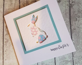 Handmade Easter Rabbit Card / Easter card / Easter Bunny card / Happy Easter Card / Cards for Easter