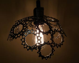 Bicycle gear chandelier