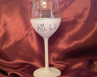 Glitter wine glass with slimming world syns