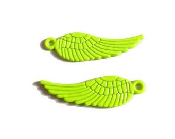1 x charm wing neon 30mm NEON yellow