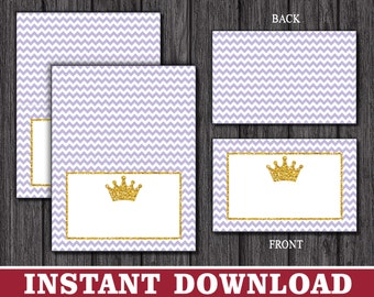 Princess Tent Cards - Princess Buffet Cards - Food Labels - Place Cards - Printable Digital File - INSTANT DOWNLOAD