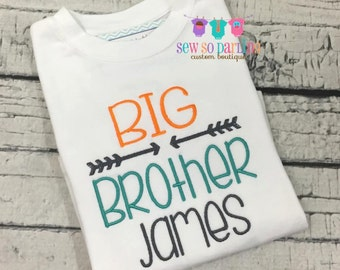 Big brother shirt - sibling clothes - Big brother clothes - birth announcement shirt - Big brother outfit - sibling outfit