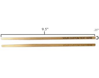 Custom Personalized Laser Engraved Bamboo Chopsticks - Wedding, Housewarming, Anniversary, Birthday, Holiday, Gift EP - CHOPSTICKS - CUSTOM