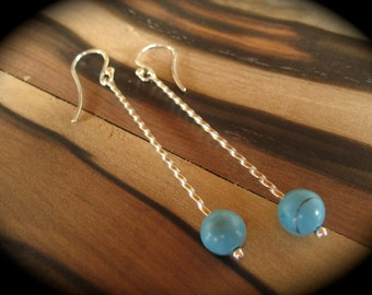 Hand Made Sterling Silver Turquoise Earrings