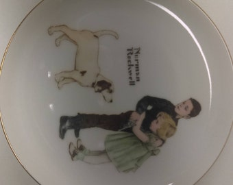 Norman Rockwell plate.Big Brother