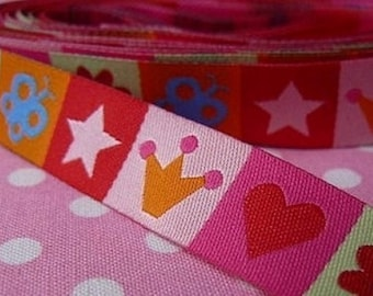 Heart Star 15mm the meter farbenmix Ribbon