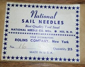 Four vintage sail needles, various sizes