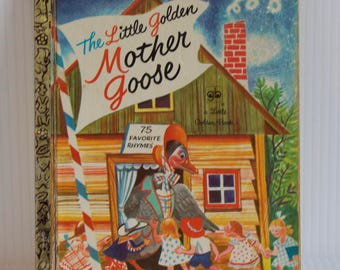 Vintage 1972 The Little Golden Mother Goose - 75 Favorite Rhymes