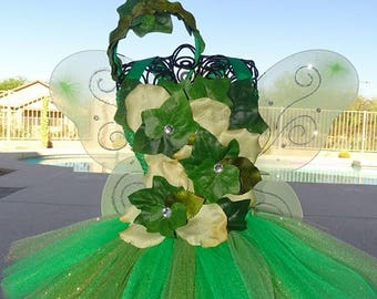 Enchanted Pixie Hollow  tutu dress, Halloween tutu costume,super hero tutu dress