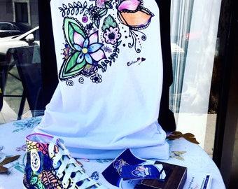 Hand Paints DYE Sneakers + T-shirt (Unique Designs)