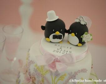 Penguins Wedding Cake Topper (K407)
