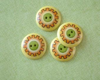 Yellow Gear set of 4