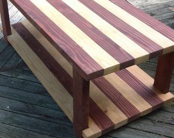 Custom Wood Plank Coffee Table