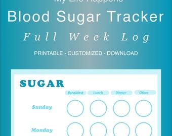 Blood Sugar Log - Digital Download