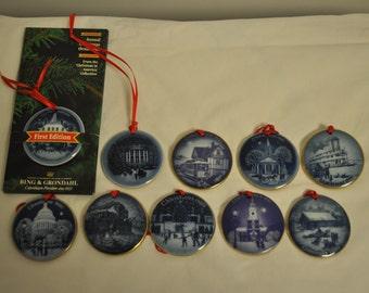 Christmas in America Ornament Set