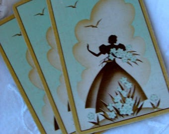 Stunning Antique Silhouette Playing Cards Lot
