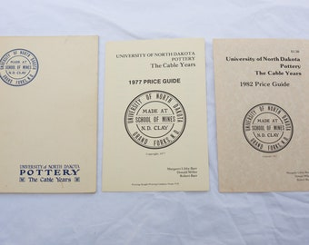 University of North Dakota Pottery The Cable Years - 1977 Booklet - School of Mines Grand Forks ND - Includes 2 Separate 1 Page Price Guides