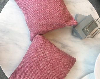 Pink Tweed Pillow