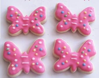 Butterfly Sugar Cookies for birthday favor, baby shower favor, wedding favor, 2 Dozen