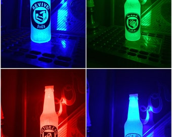 PICK Call Of Duty Black Ops Juggernog Soda 12 oz Zombie Perk Bottle Light LED Bar Man Cave