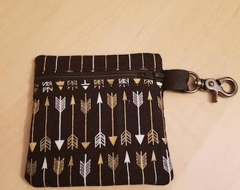 Paci Pouch, Ear Bud Bag, small Zipper Bag