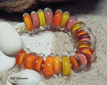 Autumn, Artisan Lampwork Glass Beads