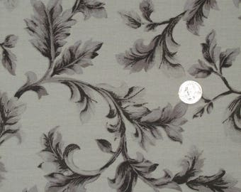"""1 yard x 58"""" wide Water Repellent Outdoor Decorator/ Upholstery Fabric Taupe Leafy Pattern Lovely (sold BTY)"""