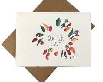 Scatter Love Greeting Card