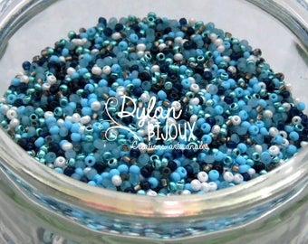 10 gr assortment mix Navy turquoise 2.3 mm 10/0 Preciosa Ornela seed beads