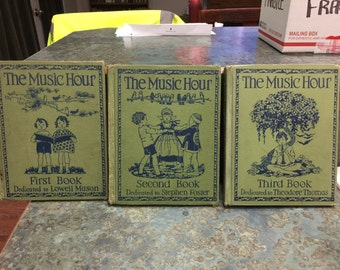 1930 Era Qty of 3 The Music Hour School Books Stephen Foster, Lowell Mason and Theodore Thomas