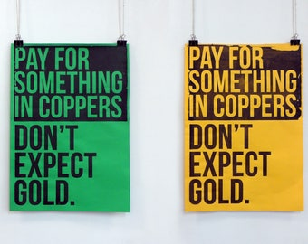A2 Silk Screened Printed Type Poster