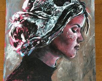 RedBird DirtyBird - Original Acrylic Painting