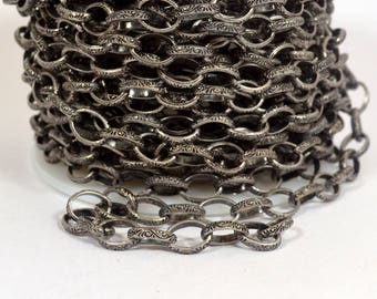 Celtic Cable Chain - Antique Silver - CH76-AS - Choose Your Length