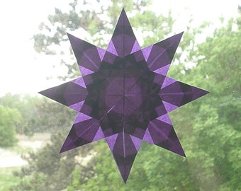 Purple Waldorf Inspired Window Star with 8 Points