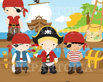 Pirates Digital Clipart for Personal and Commercial Use