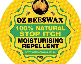 Oz Beeswax 100% Natural Stop Itch Moisturiser 20g