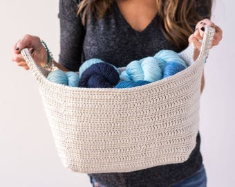 Crochet Pattern ~ Essentials Basket ~ Crochet Pattern