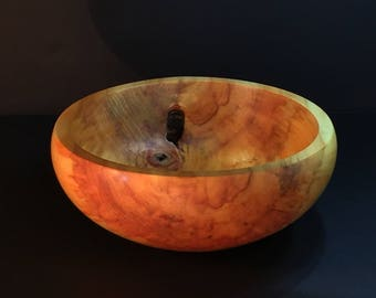 alder wood turned bowl