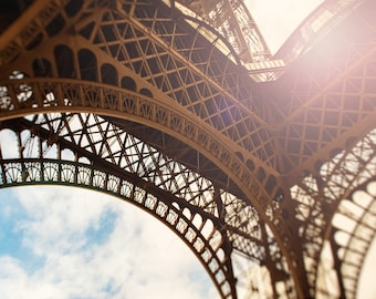 Eiffel Tower Photograph | Paris Wall Art Print | Artwork for Walls | Travel and Landscape Art | Abstract Photography | Neutral Paris Decor