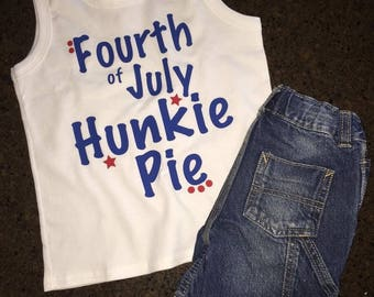 Boy 4th of July Shirt, Fourth of July Hunkie Pie, Toddler Boy 4th of July Shirt, 4th of July Shirt, Fourth of July Shirt, Boy 4th of July