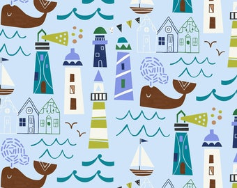 Seaside Collection Jill McDonald Baum Windham Cotton Quilt Light Blue Harbor View 42692-2 sewing crafting material