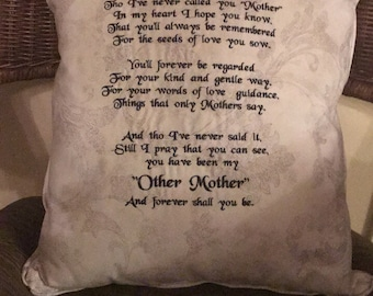 My Other Mother Embroidered Decorative Pillow