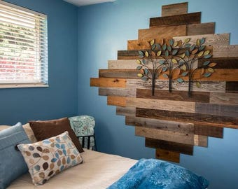 Brown and Gray rustic wood accent wall (30 sq. ft.)